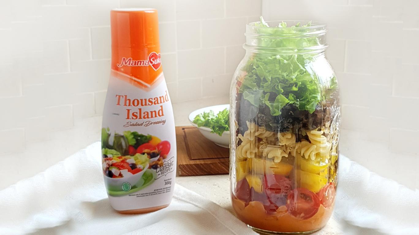 Salad in Jar ala MamaSuka, Super Mudah dan Segar Banget!